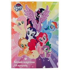 Картон белый односторонний Kite My Little Pony LP19-254, А4, 10 листов, папка